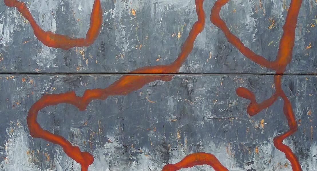 Olie på lærred 180 x 90